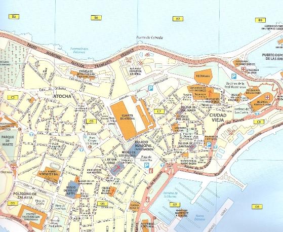 Valencia Walencja Plan Miasta 1 11 000 Michelin